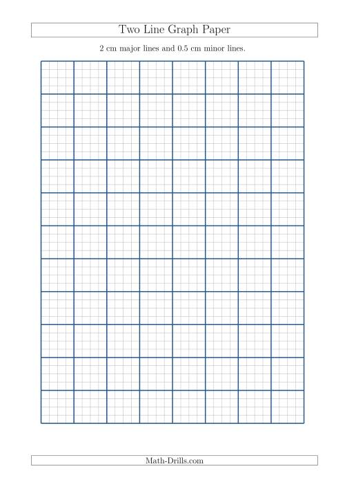 two line graph paper with 2 cm major lines and 0 5 cm minor lines