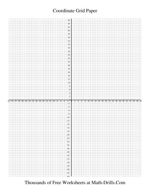 The 0.25 cm Coordinate grid