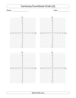 4 Per Page Cartesian/Coordinate Grids