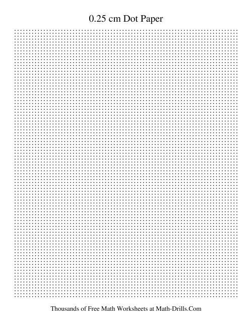 0 25 cm metric dot paper  black  graph paper
