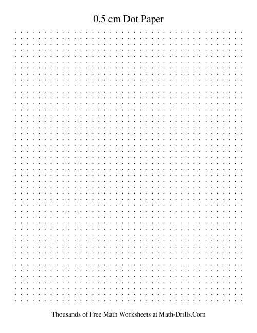 0 5 cm metric dot paper  black   black