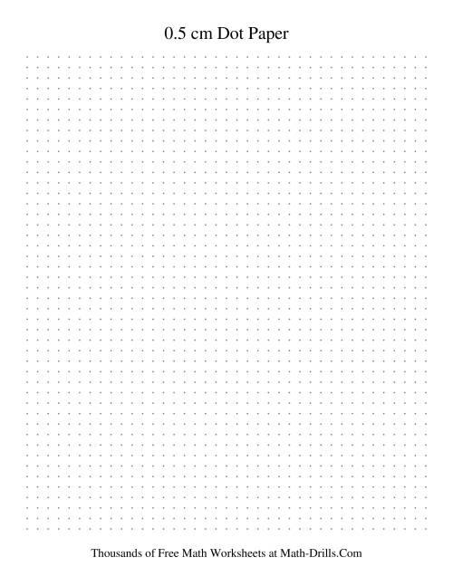 0 5 cm metric dot paper  grey   grey