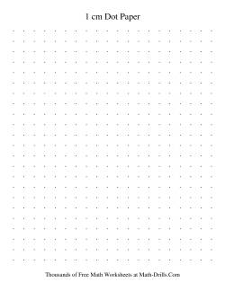 1 cm Metric Dot Paper (Black)