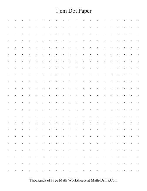 The 1 cm Metric Dot Paper (Black) Graph Paper