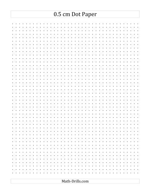 The 0.5 cm Dot Paper (A) Math Worksheet