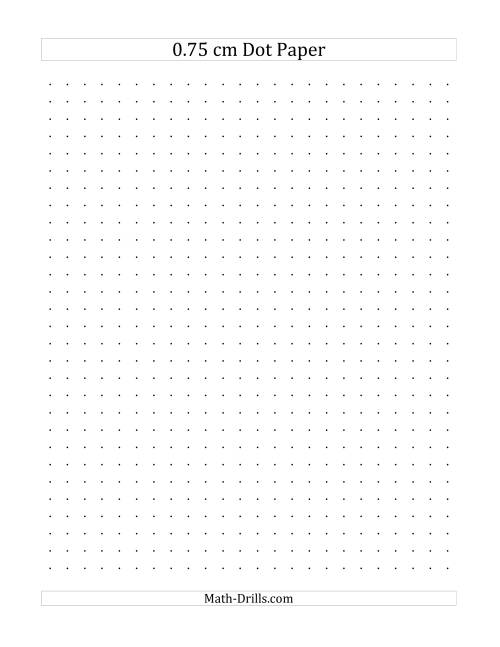 The 0.75 cm Dot Paper (A) Math Worksheet