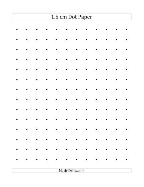 Printable Dot Paper 1 5 cm Dot Paper a