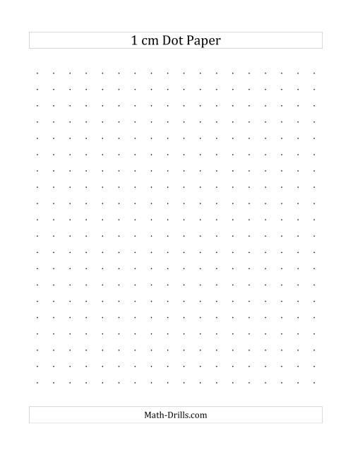1 cm dot paper  a