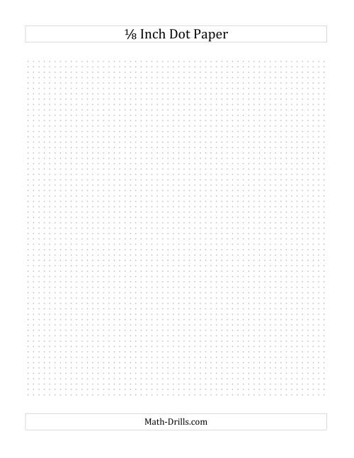 The 1/8 Inch Dot Paper (All) Math Worksheet Page 2