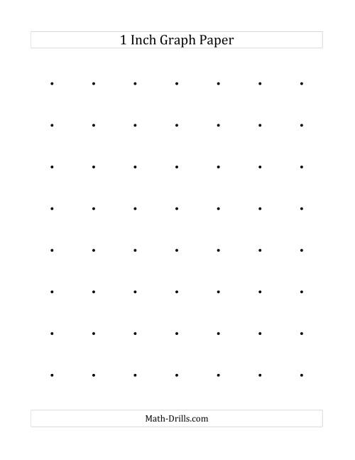 The 1 Inch Dot Paper (A) Math Worksheet