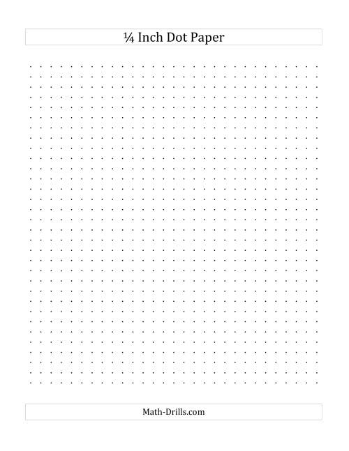 The 1/4 Inch Dot Paper (A) Math Worksheet