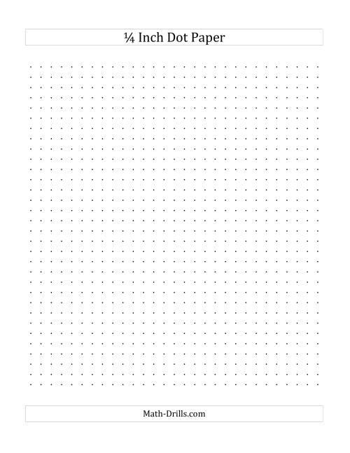 1  4 inch dot paper  a  graph paper