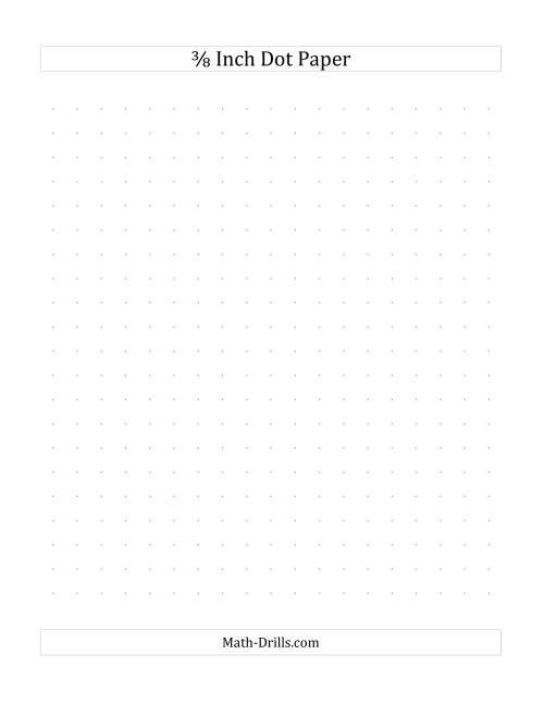 The 3/8 Inch Dot Paper (B) Math Worksheet