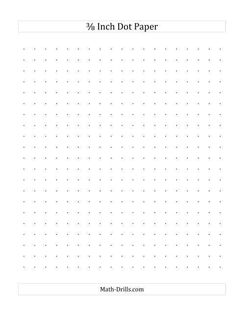 The 3/8 Inch Dot Paper (All) Math Worksheet