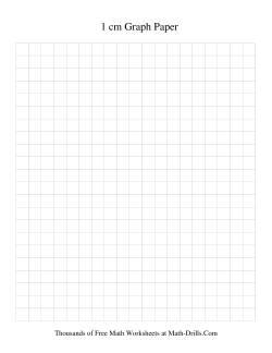 1 cm Metric Graph Paper (Black)