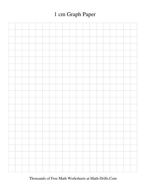The 1 cm Metric Graph Paper (Black) Graph Paper