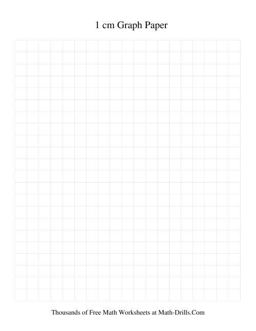1 cm Metric Graph Paper (Grey) (Grey)