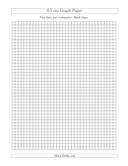 0.5 cm Graph Paper with Black Lines (A)