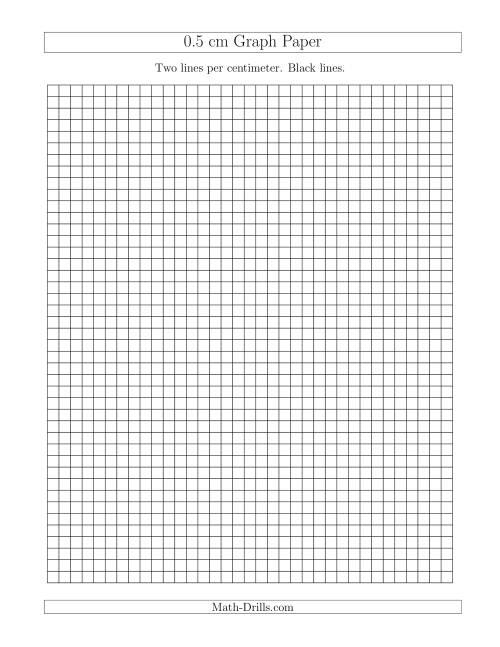 0 5 cm graph paper with black lines  a  graph paper
