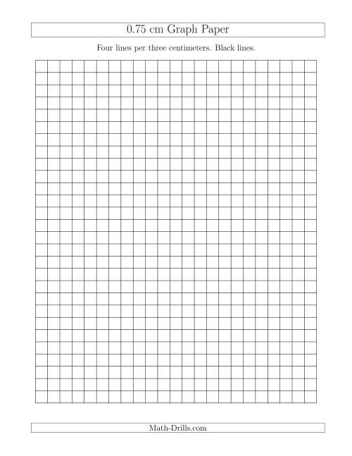 0.75 cm Graph Paper with Black Lines (A)