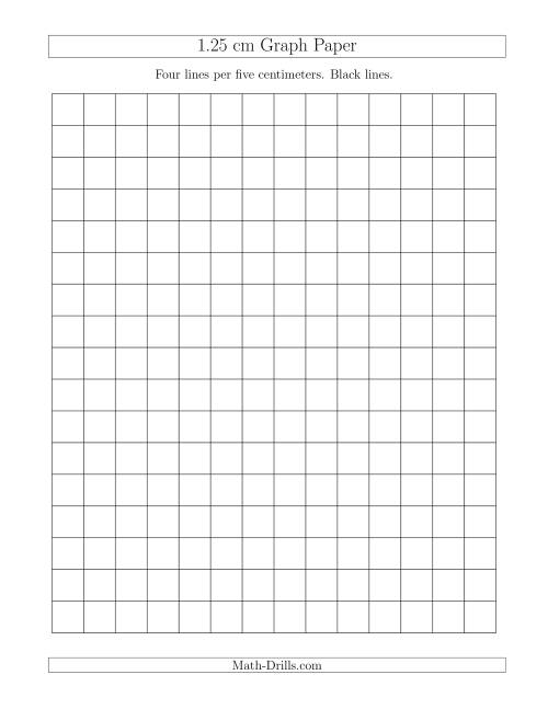 1 25 Cm Graph Paper With Black Lines A