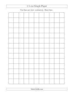 1.5 cm Graph Paper with Black Lines