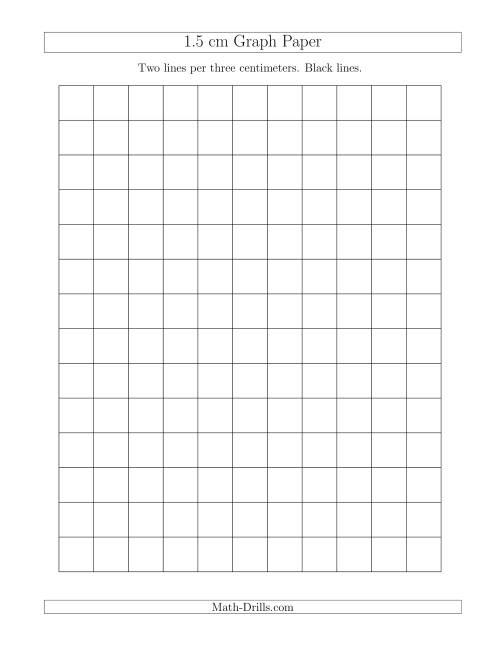 1 5 Cm Graph Paper With Black Lines A