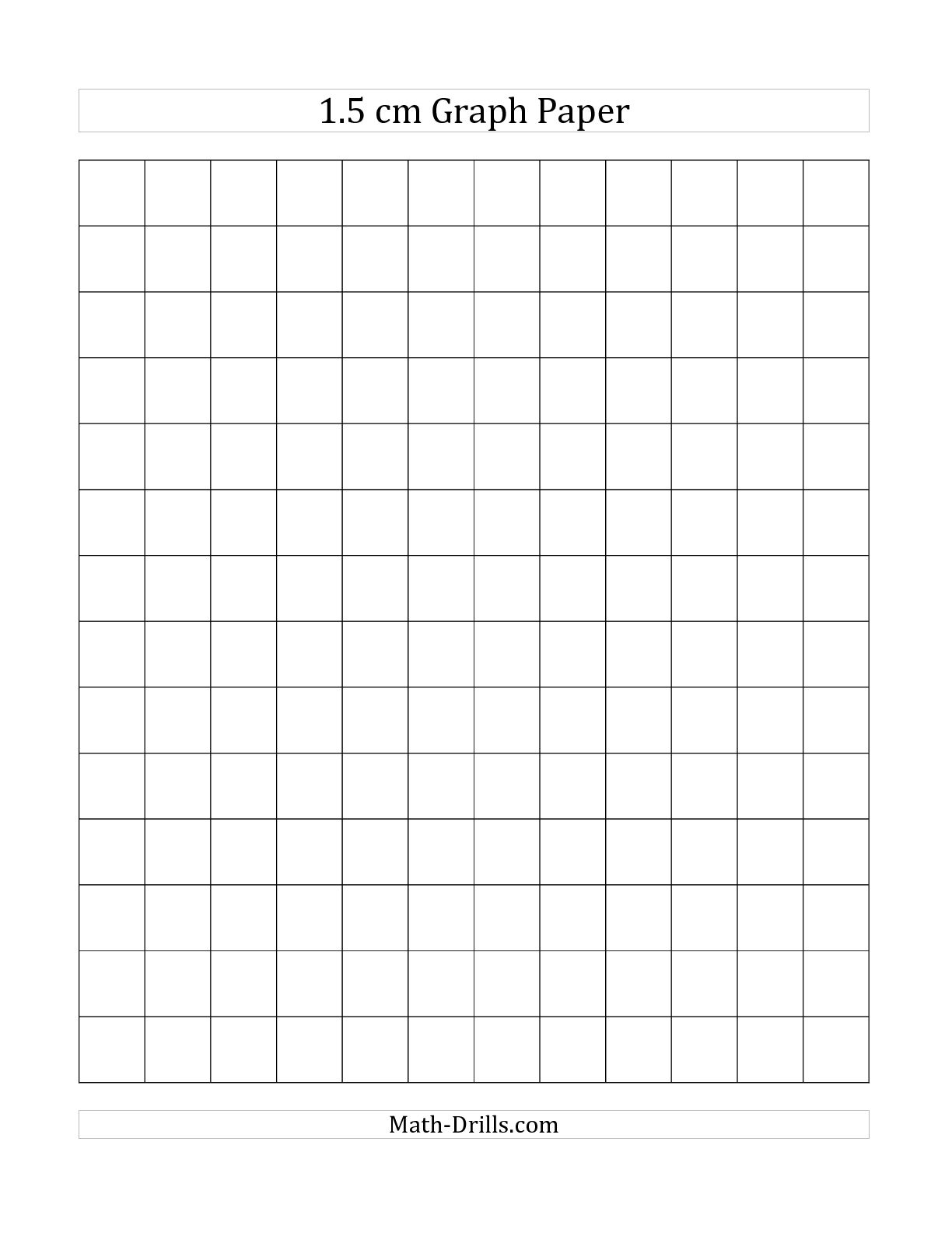 The 1.5 cm Graph Paper (All) Graph Paper