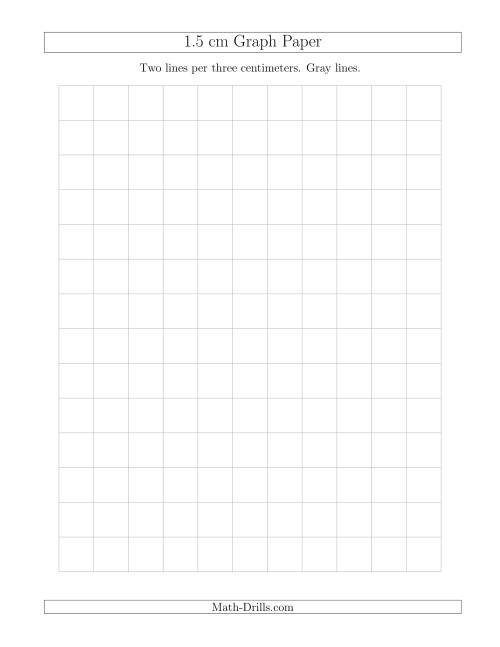 The 1.5 cm Graph Paper with Gray Lines (Gray) Math Worksheet