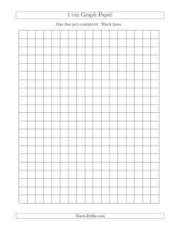 1 cm Graph Paper with Black Lines