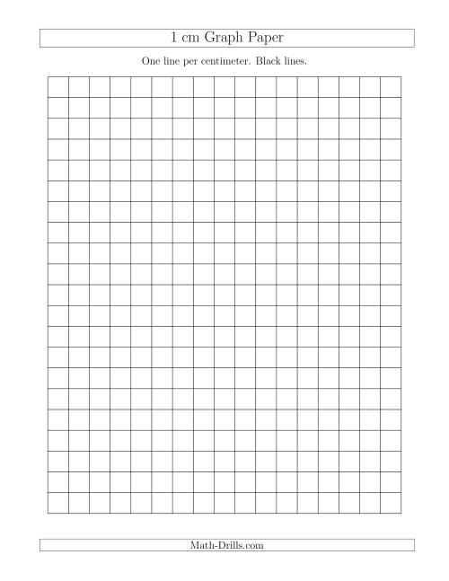 1 cm graph paper with black lines  a