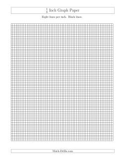 1/8 Inch Graph Paper with Black Lines (A)