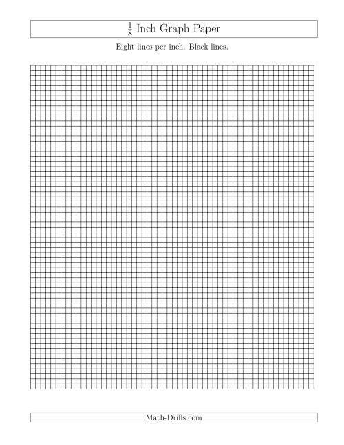 The 1/8 Inch Graph Paper with Black Lines (A) Graph Paper