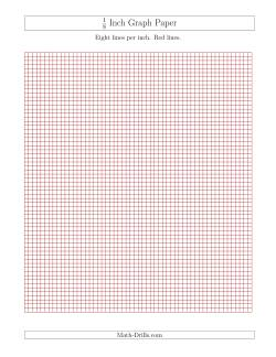 1 8 Inch Graph Paper With Black Lines A