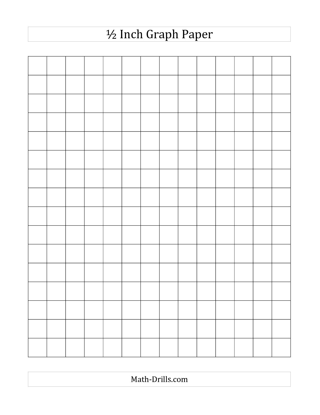 printable half inch grid paper images