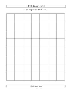 1 Inch Graph Paper with Black Lines (A)
