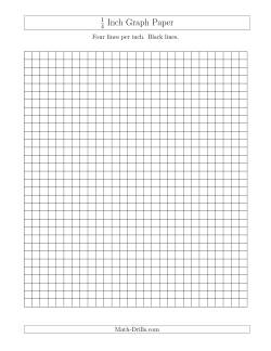 1/4 Inch Graph Paper with Black Lines