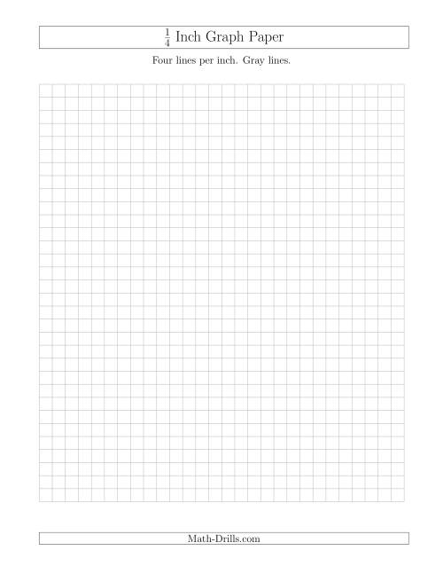1 4 Inch Graph Paper With Gray Lines Gray