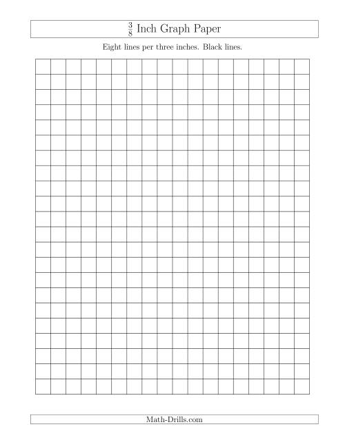 The 3/8 Inch Graph Paper with Black Lines (A) Math Worksheet