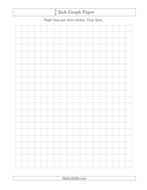 The 3/8 Inch Graph Paper with Gray Lines (Gray) Math Worksheet