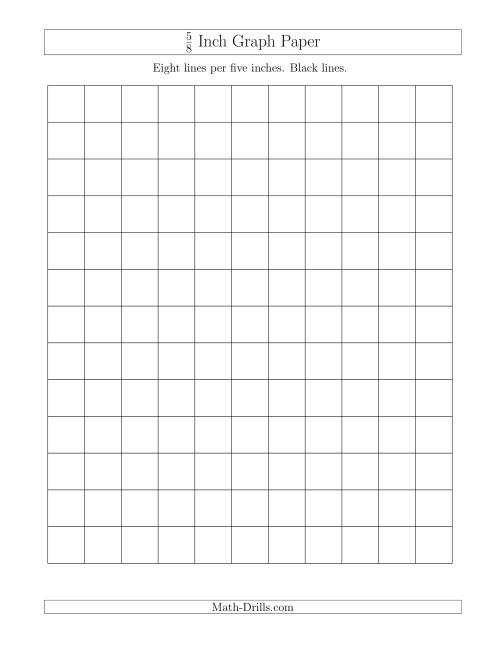 The 5/8 Inch Graph Paper with Black Lines (A) Math Worksheet