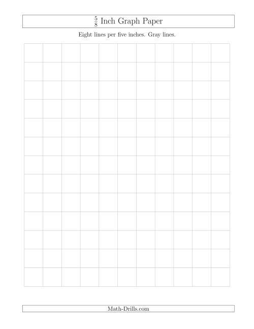 The 5/8 Inch Graph Paper with Gray Lines (Gray) Math Worksheet