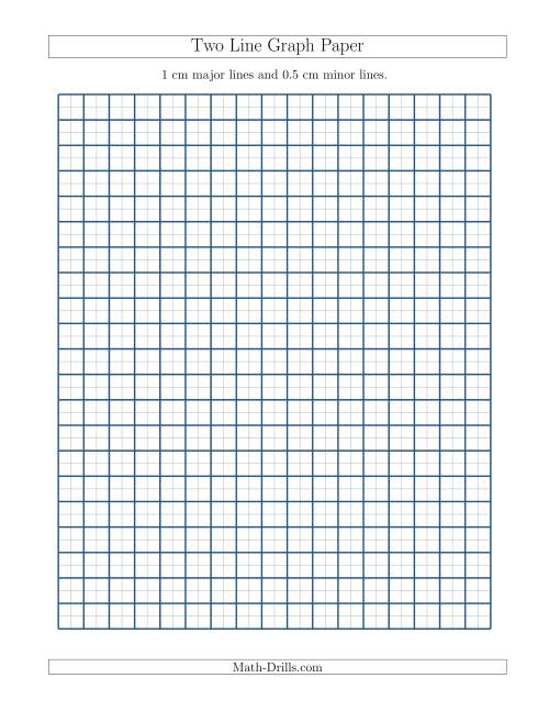 Two Line Graph Paper with 1 cm Major Lines and 05 cm Minor Lines A – Download Graph Paper for Word