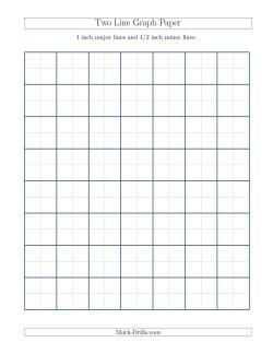 U.S. Measurements Multi Line Graph Paper. 1 Inch ...