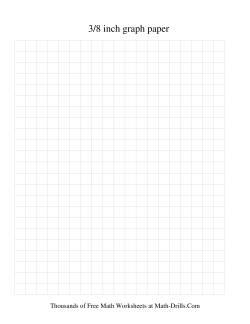 3/8 Inch Graph Paper (Black)