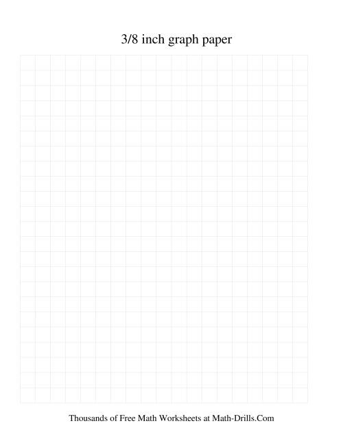 3/8 Inch Graph Paper (Grey) Graph Paper