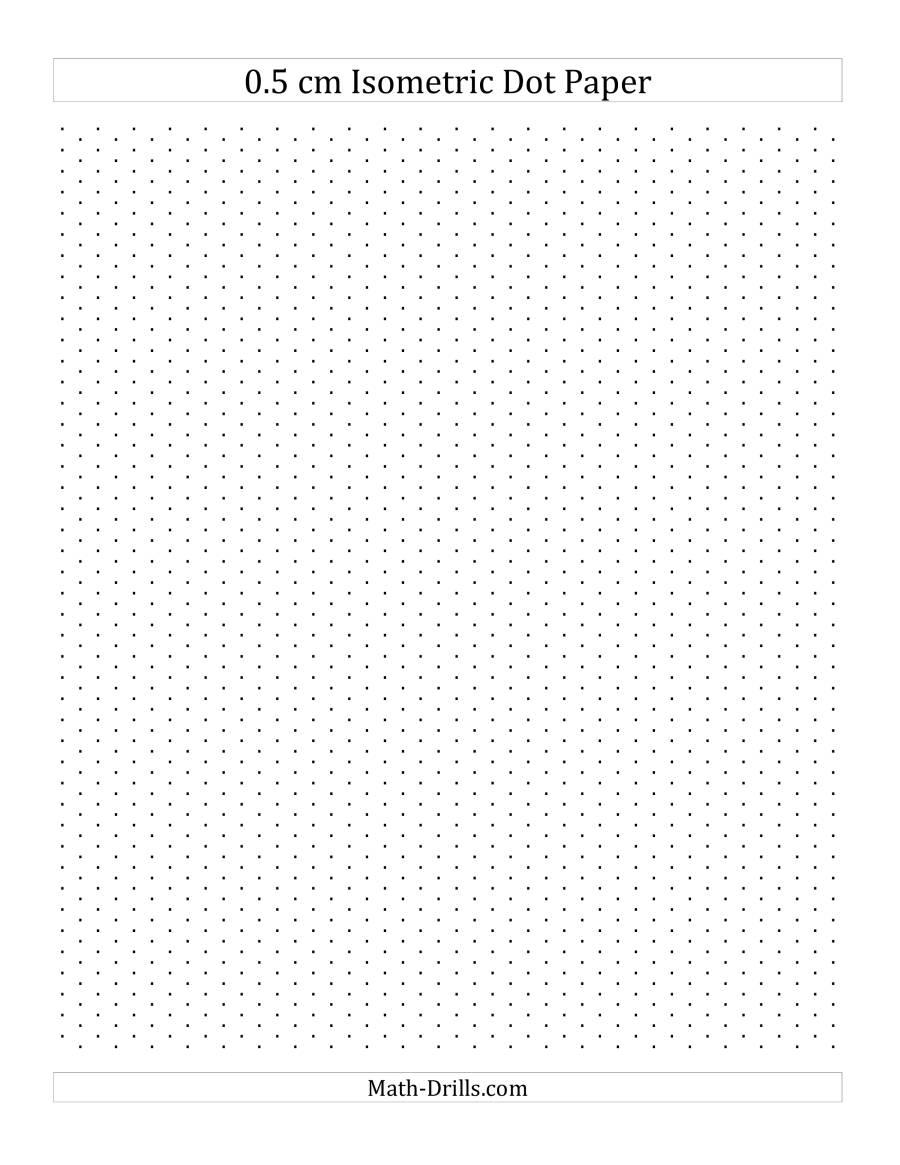 0.5 cm Isometric Dot Paper