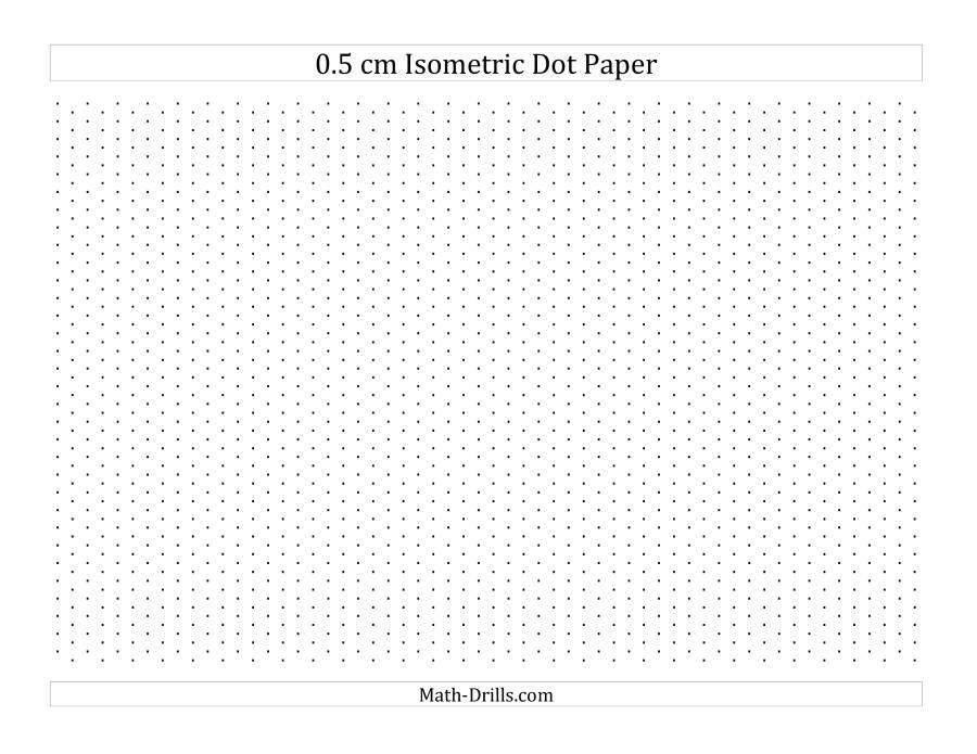 0 5 cm isometric dot paper  landscape   a