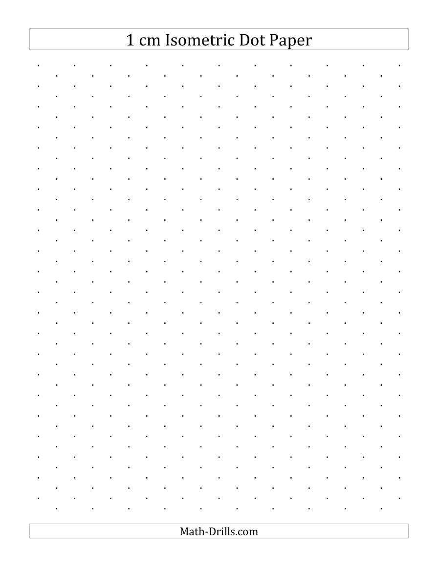 1 cm isometric dot paper  portrait   a  graph paper
