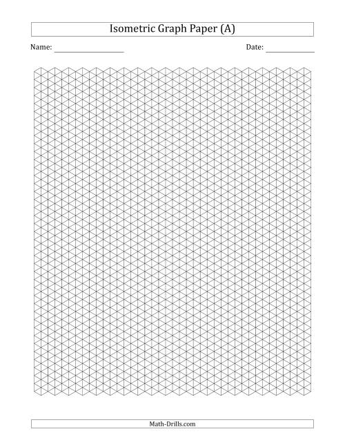 The 0.5 cm Isometric Graph Paper (Black) Math Worksheet